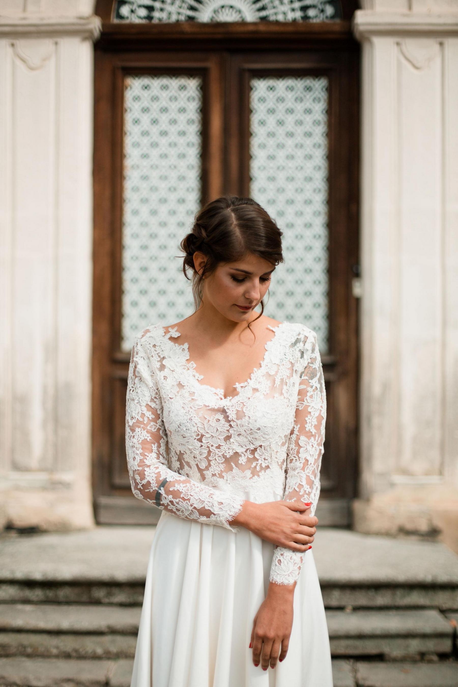 Création Robe Robe 'Maria' Crèpe de soie